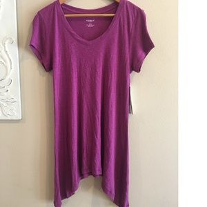 NWT Mulberry Purple Short Sleeve Tunic Shirt